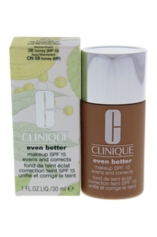 Even Better Makeup SPF 15 - # 06 Honey (MF-G) - Dry To Combination Oily Skin by Clinique for Women - 1 oz Foundation