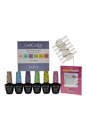 Gelcolor Soak-Off Gel Lacquer - The Pastels Kit by OPI for Women - 7 Pc Kit 0.5oz GC 104 - Need Sunglasses?, 0.5oz GC 102 - Do You Lilac?, 0.5oz GC 101 - Can't Find My Czechbook, 0.5oz GC 105 - Are We There Yet, 0.5oz GC 103 - Gargantuan Green Grape, 0.5oz GC 106 - Mod About You, 20 Pcs Expert Touch Removal Wraps