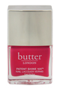 Patent Shine 10X Nail Lacquer - Flusher Blusher by Butter London for Women - 0.4 oz Nail Lacquer