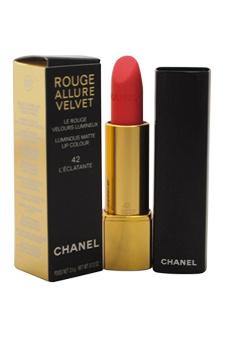 Rouge Allure Velvet Luminous Matte Lip Colour - # 42 L'Eclatante by Chanel for Women - 0.12 oz Lipstick