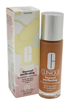 Beyond Perfecting Foundation + Concealer # 18 Sand (M-N)-Dry Comb. To Comb. Oily by Clinique for Women - 1 oz Foundation + Concealer