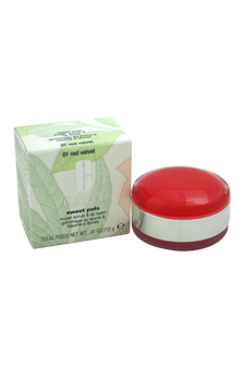 Sweet Pots Sugar Scrub & Lip Balm - # 01 Red Velvet by Clinique for Women - 0.41 oz Scrub & Lip Balm