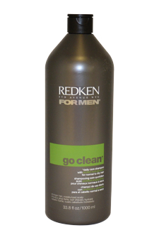 Go Clean Daily Care Shampoo by Redken for Men - 33.8 oz Shampoo