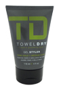Firm Hold Gel Styler by Towel Dry for Men - 4 oz Gel