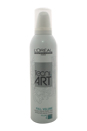 Full Volume Tecni Art Force 4 Strong Hold by L'Oreal Professional for Unisex - 8.4 oz Mousse