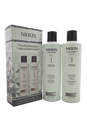 System 1 Cleanser & Scalp Therapy Conditioner Duo by Nioxin for Unisex - 10.1 oz Shampoo & Conditioner