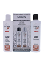 System 3 Cleanser & Scalp Therapy Conditioner Duo by Nioxin for Unisex - 10.1 oz Shampoo & Conditioner