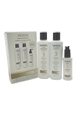 System 3 Normal To Thin-Looking For Fine Hair Kit by Nioxin for Unisex - 3 Pc Kit 150ml Cleanser, 150ml Scalp Revitaliser Conditioner, 50ml Scalp Treatment
