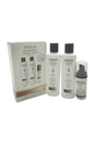 System 4 Noticeably Thinning For Fine Hair Kit by Nioxin for Unisex - 3 Pc Kit 150ml Cleanser, 150ml Scalp Revitaliser, 40ml Scalp & Hair Treatment