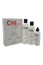 44 Ionic Power Plus Kit by CHI for Unisex - 3 Pc Kit 8.4oz N-1 Priming Shampoo, 6oz NC-2 Stimulating Conditioner, 4oz N-3 Energy Hair Thickener