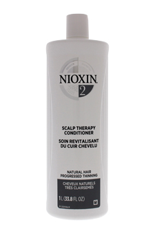 System 2 Scalp Therapy Conditioner For Fine Natural Noticeably Thinning Hair by Nioxin for Unisex - 33.8 oz Scalp Therapy