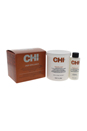 Deep Brilliance Sensitive Scalp No Lye Calcium Hydroxide Kit by CHI for Unisex - 2 Pc Kit 7.7oz Sensitive Scalp No Lye Calcium Hydroxide Conditioning Relaxer (Part A), 2.2oz Sensitive Scalp No Lye Calcium Hydroxide Liquid Activator (Part B)