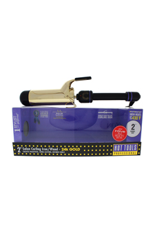 24K Gold Salon Curling Iron/Wand - Model # 1111 - Gold/Black by Hot Tools for Unisex - 2 Inch Curling Iron