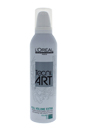 Tecni Art Full Volume Extra Force 5 Extra Strong Hold Mousse by L'Oreal Professional for Unisex - 8.5 oz Mousse