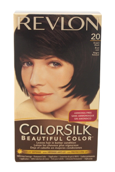 ColorSilk Beautiful Color # 20 Brown Black 2N by Revlon for Unisex - 1 Application Hair Color