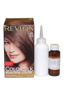 ColorSilk Beautiful Color #41 Medium Brown by Revlon for Unisex - 1 Application Hair Color