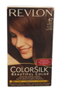 ColorSilk Beautiful Color #47 Medium Rich Brown by Revlon for Unisex - 1 Application Hair Color