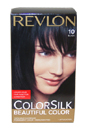 ColorSilk Beautiful Color #10 Black by Revlon for Unisex - 1 Application Hair Color