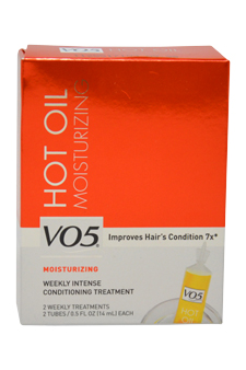 Moisturizing Hot Oil Treatment by Alberto VO5 for Unisex - 2 x 0.5 oz Oil