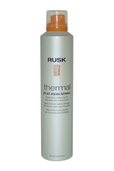 Thermal Flat Iron Spray by Rusk for Unisex - 8.8 oz Hair Spray