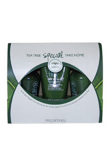 Tea Tree Special Take Home by Paul Mitchell for Unisex - 3 Pc Set 2.5oz Special Shampoo, 2.5oz Hair And Scalp Treatment, 2.5oz Special Conditioner