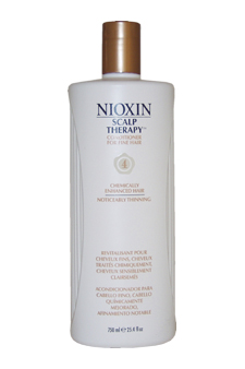System 4 Scalp Therapy Cond. For Fine Chem. Enh. Noticeably Thin. Hair by Nioxin for Unisex - 25.4 oz Conditioner