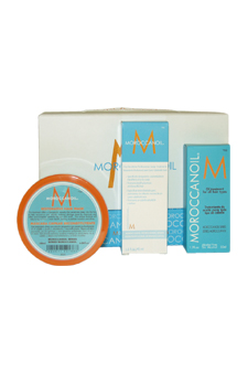 Moroccan Oil Dry No More Scalp Treatment by MoroccanOil for Unisex - 3 Pc Kit 1.7oz Moroccan Oil Treatment, 1.5oz Moroccan Oil Dry No More ScalpTreatment, 6.08oz Restorative Hair Mask