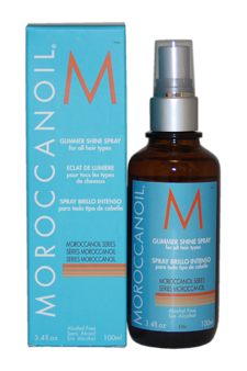 Moroccan Oil Glimmer Shine Spray by MoroccanOil for Unisex - 3.4 oz Hair Spray