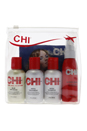 Catonic Hydrating Interlink Travel Set by CHI for Unisex - 4 Pc Kit 2oz Silk Infusion, 2oz 44 Iron Guard, 2oz Infra Shampoo,  2oz Infra Treatment