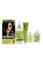 Nutrisse Nourishing Color Creme # 20 Soft Black by Garnier for Unisex - 1 Application Hair Color