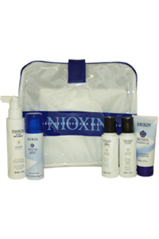 System 1 Kit For Fine Natural Normal - Thin Looking Hair by Nioxin for Unisex - 5 Pc Kit 1.7oz Scalp Treatment, 1.7oz Cleanser, 1.7oz Scalp Therapy, 1.7oz Volumizing Reflectives Thickening Gel, 1.7oz Volumizing Reflectives Niospray Extra Hold