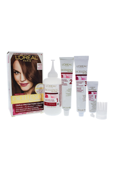 Excellence Creme Pro - Keratine # 6RB Light Reddish Brown - Warmer by L'Oreal Paris for Unisex - 1 Application Hair Color