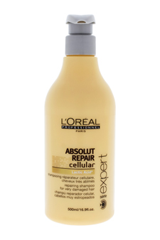 Serie Expert Absolut Repair Cellular Shampoo by L'Oreal Professional for Unisex - 16.9 oz Shampoo