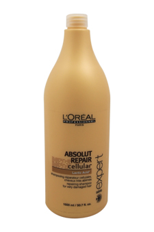 Serie Expert Absolut Repair Cellular Shampoo by L'Oreal Professional for Unisex - 50.7 oz Shampoo