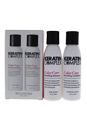 Keratin Complex Travel Valet Color Care Kit by Keratin for Unisex - 2 Pc Kit 3oz Keratin Color Care Shampoo, 3oz Keratin Color Care Conditioner