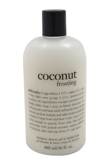 Coconut Frosting Shampoo, Shower Gel and Bubble Bath by Phil