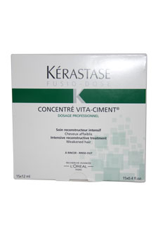 Fusio Dose Concentre Vita Ciment Treatment for Unisex - 15 x 0.4 oz Treatment
