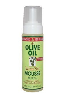Organic Root Stimulator Olive Oil Wrap/Set Mousse by Organic for Unisex - 7 oz Mousse