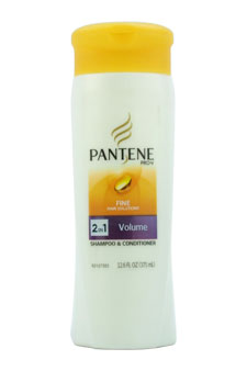 Pro-V Fine Hair Solutions 2 in 1 Flat to Volume Shampoo & Conditioner by Pantene for Unisex - 12.6 oz Shampoo & Conditioner