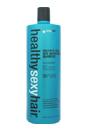 Healthy Sexy Hair Sulfate-Free Soy Moisturizing Shampoo by Sexy Hair for Unisex - 33.8 oz Shampoo