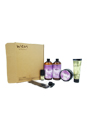 Wen Hair Care Deluxe Kit - Lavender by Chaz Dean for Unisex - 6 Pc Kit 2 x 16oz Wen Lavender Cleansing Conditioner, 4oz Wen Lavender Re Moist Intensive Hair Treatment, 4oz Wen Sweet Almond Mint Anti-Frizz Styling Creme, 0.35oz Wen Sweet Almond Mint Texture Balm, Wide-Tooth Comb