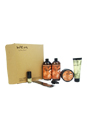 Wen Hair Care Deluxe Kit - Fig by Chaz Dean for Unisex - 6 Pc Kit 2 x 16oz Wen Fig Cleansing Conditioner, 4oz Wen Fig Re Moist Intensive Hair Treatment, 4oz Wen Sweet Almond Mint Anti-Frizz Styling Creme, 0.35oz Wen Sweet Almond Mint Texture Balm , Wide-Tooth Comb