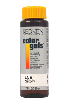 Color Gels Permanent Conditioning Haircolor 4NA - Chicory by Redken for Unisex - 2 oz Hair Color