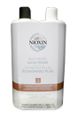 System 3 Cleanser & Scalp Therapy Conditioner Duo by Nioxin for Unisex - 33.8 oz Shampoo & Conditioner