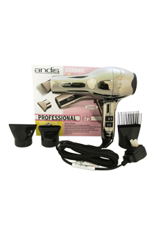 Andis Professional 1875 Watts Ceramic Ionic Hair Dryer-Model#ACM-1 -Black Chrome