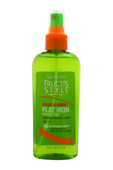 Fructis Style Sleek & Shine Flat Iron Perfector by Garnier for Unisex - 6 oz Mist