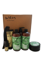 Wen Hair Care Deluxe Kit - Cucumber Aloe by Chaz Dean for Unisex - 6 Pc Kit 2 x 16oz Wen Cucumber Aloe Cleansing Conditioner, 4oz Re Moist Intensive Hair Treatment, 4oz Wen Sweet Mint Anti-Frizz Styling Creme, 0.35oz Wen Sweet Almond Texture Balm, 1Pc Wide-Tooth Comb