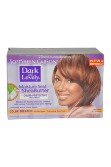 Moisture Seal Plus Shea Butter No-Lye Relaxer Kit - Color Treated by Dark and Lovely for Women - 1 Application Hair Color