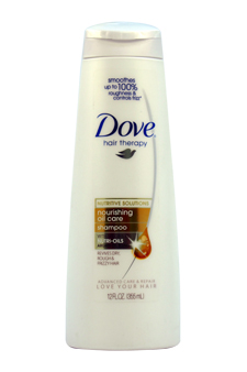 Damage Therapy Nourishing Oil Care Shampoo by Dove for Women - 12 oz Shampoo