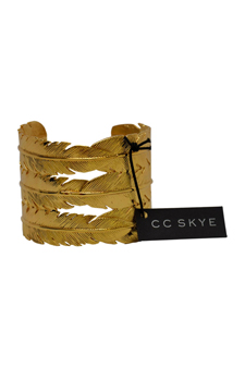 Feather Cuff in Gold by CC Skye for Women - 1 Pc Cuff